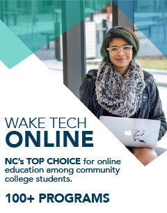 Wake Tech Online - NC's Top Choice for online education among community college students: 100+ Programs