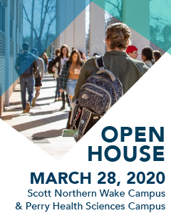 Open house - March 28, 2020: Scott northern Wake Campus & Perry Health Sciences Campus