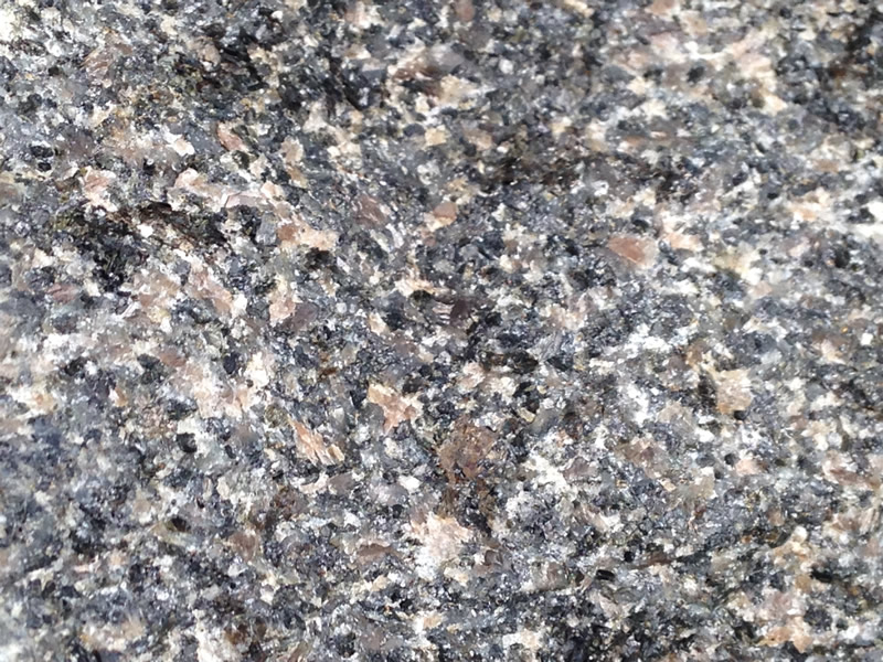 Figure 4: An extreme close-up of the gabbro showing the different minerals.