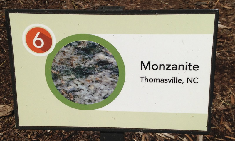 Monzanite Sign