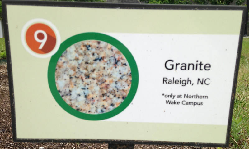 Roseville Granite Sign