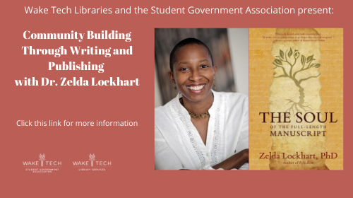 Community building through writing and publishing with Dr. Zelda Lockhart.