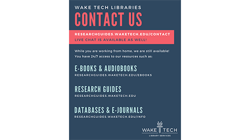 Contact info for virtual library services