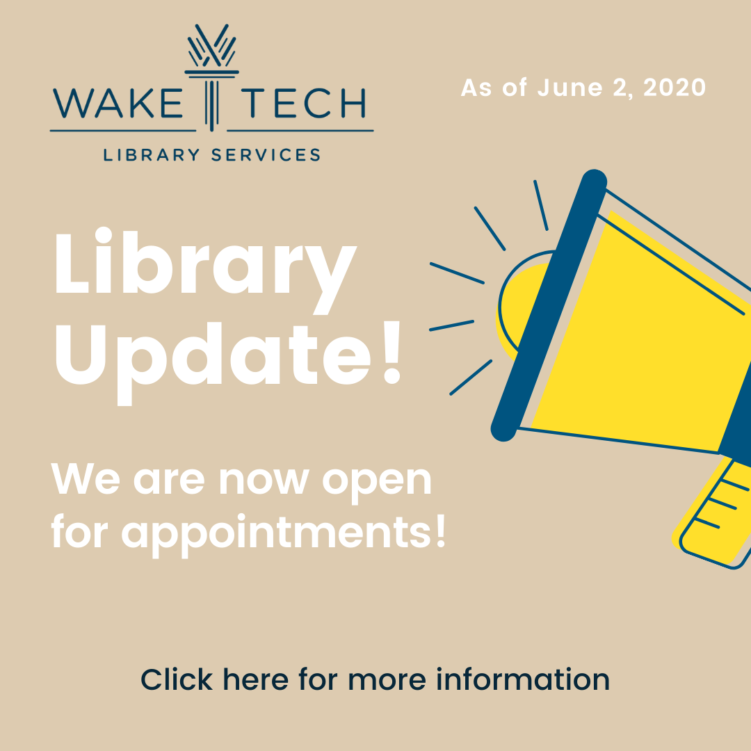 Information for booking library appointments