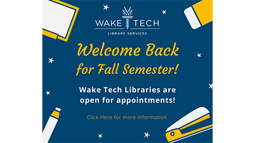 Fall semester library appointments