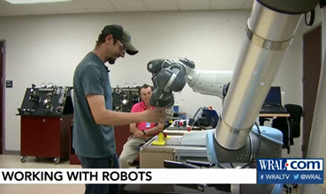 WRAL Story: Working with Robots