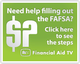 Need help filing out the FAFSA? Click here to see steps on Finacial Aid T V
