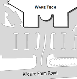 Printable Map of Western Wake Campus