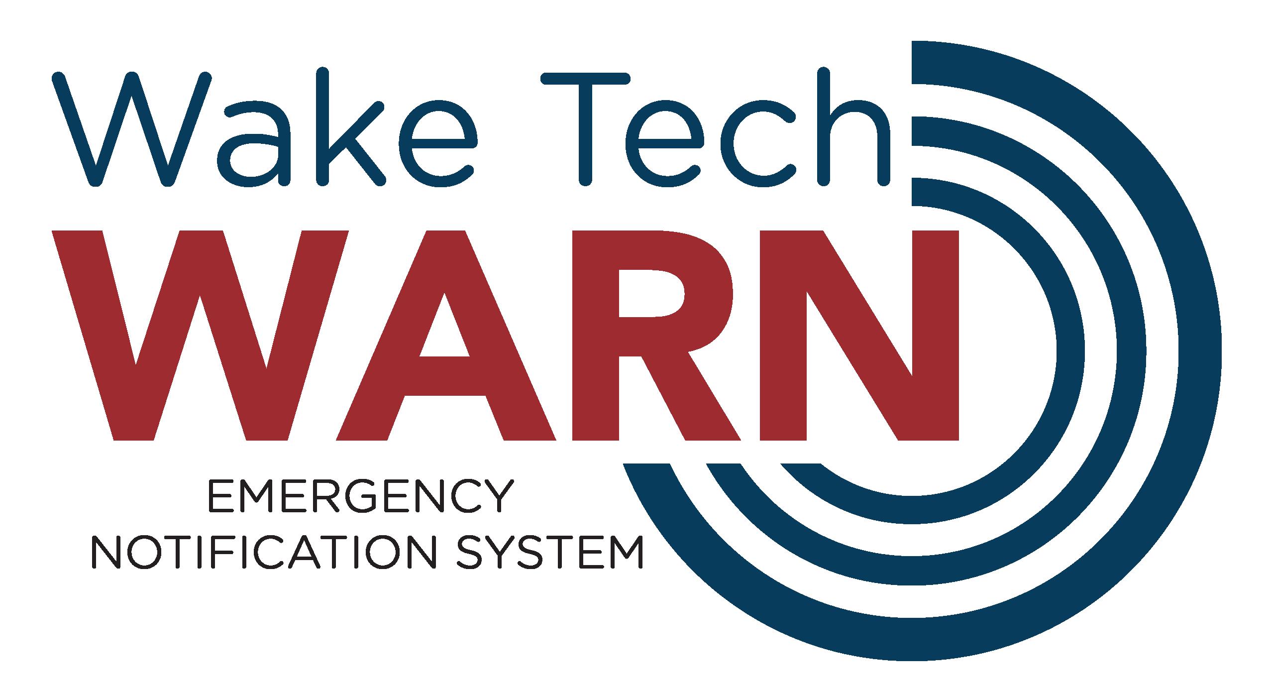 Wake Tech Warn Signup Button
