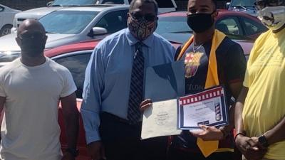 Wake Tech Hosts Curbside Graduation Celebration for Future Barbers