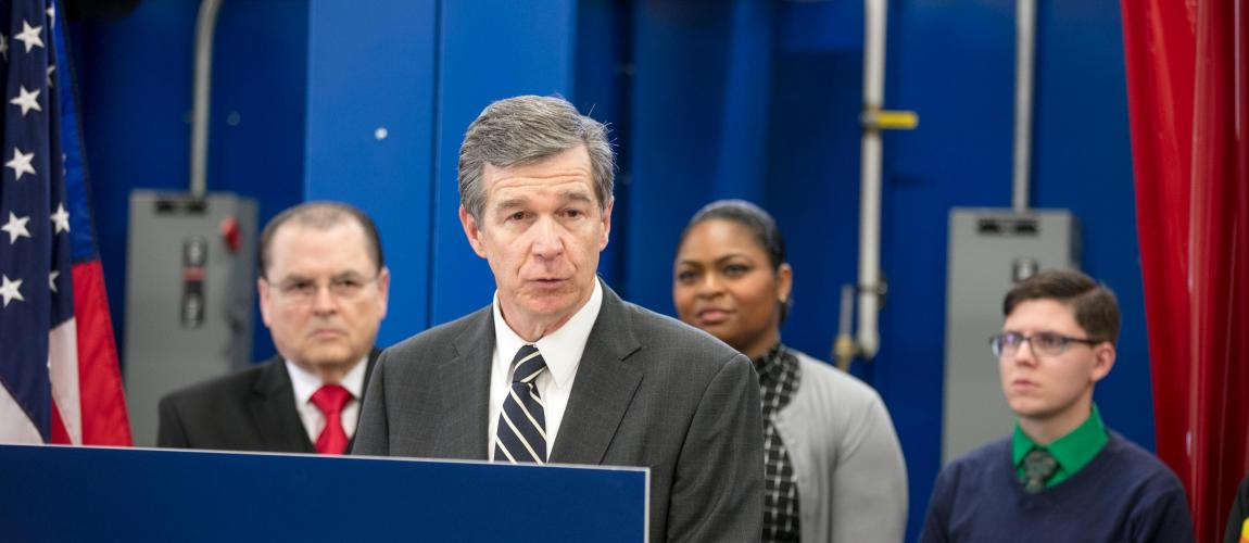 NC Governor Highlights Workforce Training at Northern Wake Campus