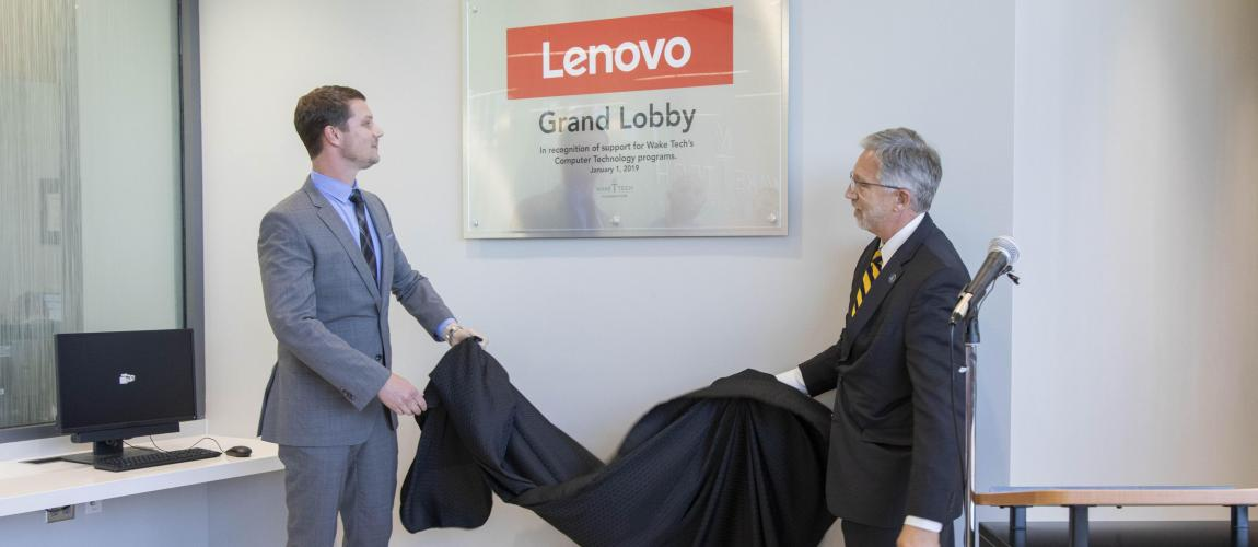 Wake Tech's RTP Campus Dedicates Lobby Honoring Lenovo Partnership