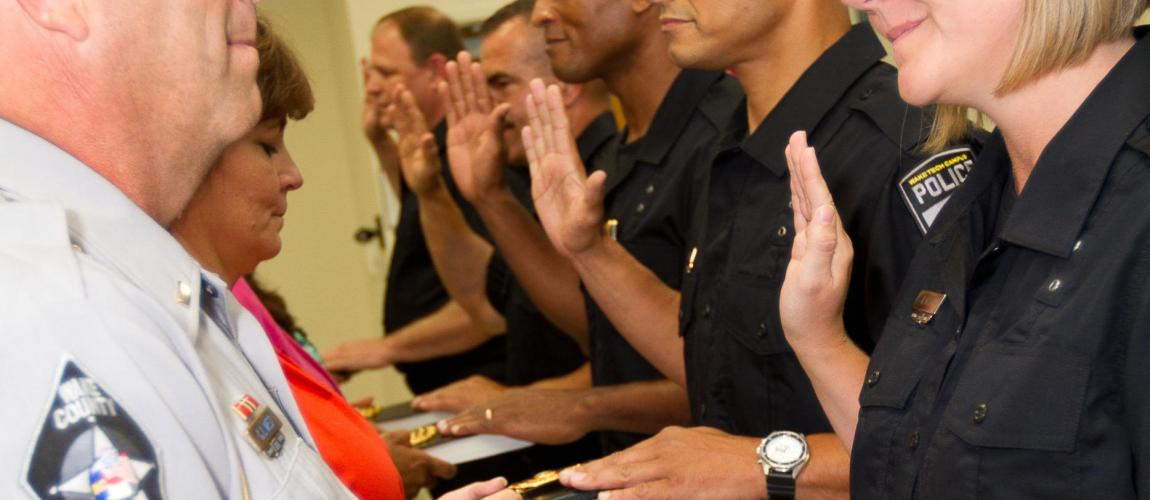 Wake Tech Campus Police Force Swears in New Officers | Wake