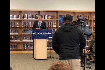 Governor Cooper Unveils Jobs Plan at Vernon Malone College and Career Academy