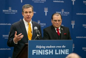 NC Governor Highlights Community College Completion at Southern Wake Campus