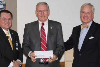 Dr. Stephen Scott, Wake Tech President, Jim Perry, Board of Trustees, Paul Coble, Wake County Commissioners