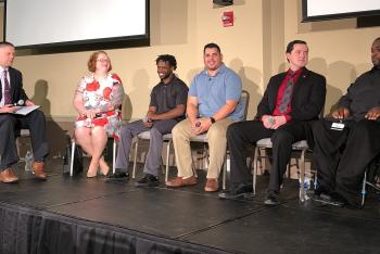 Student veterans served as panelists at Vet's Coffee