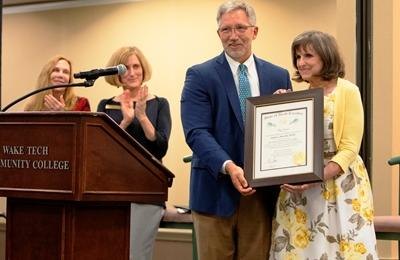 Susan Meardon Inducted into the Order of the Long Leaf Pine