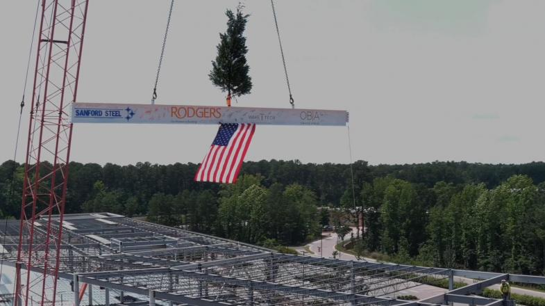 Wake Tech Holds Virtual Topping-Out Ceremony for New Building on RTP Campus