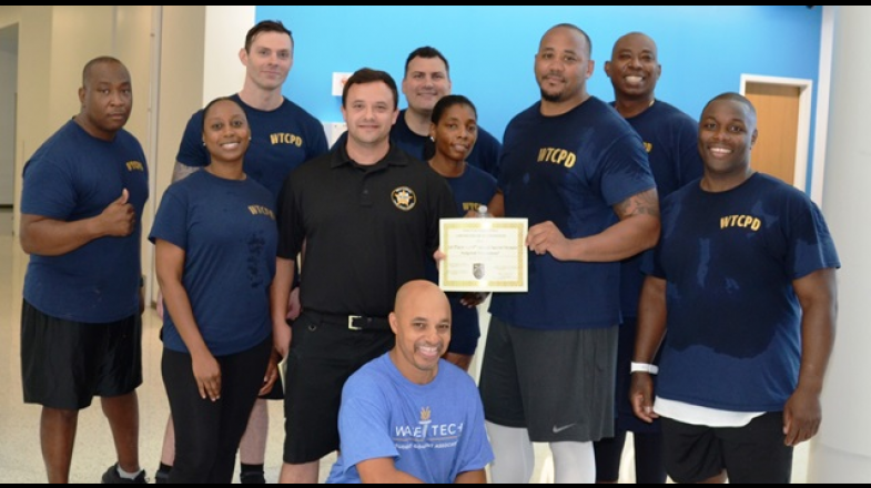 Campus Police Officers Host Dodgeball Competition