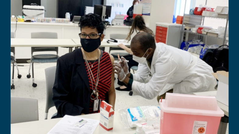 First Employee Vaccination Clinic Held at Perry Health Sciences Campus