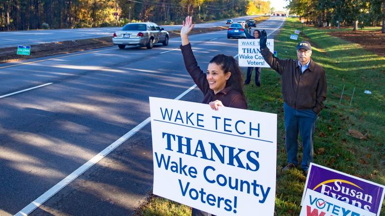 Wake Tech Thanks Wake County Voters for Generous Show of Support