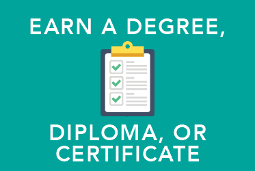 Earning a Degree, Diploma or Certificate