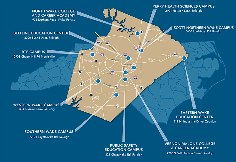 Wake Tech's Campuses & Centers | Wake Technical Community