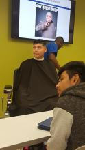 Middle Schoolers and Barbering