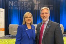 Rebecca Corbin, CEO, NACCE; Dr. Scott Ralls, Wake Tech President